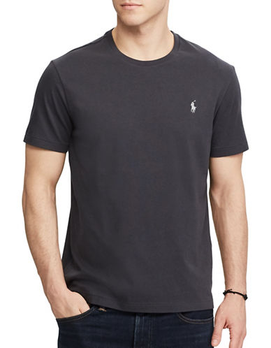 Polo Ralph Lauren Custom Slim-Fit Cotton Tee-BLACK-Small
