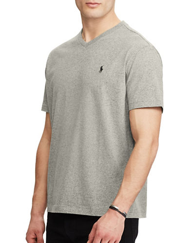 Polo Ralph Lauren Classic-Fit Cotton Tee-GREY-XX-Large
