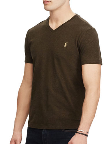 Polo Ralph Lauren Classic-Fit Cotton Tee-BROWN-Small
