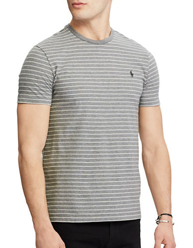 Polo Ralph Lauren Custom Fit T-Shirt-GREY-Small 89320536_GREY_Small