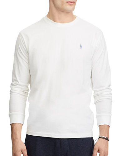 Polo Ralph Lauren No Pocket Classic-Fit Cotton Tee-WHITE-Large 89449833_WHITE_Large