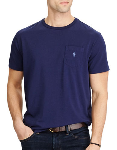 Polo Ralph Lauren Classic Fit Cotton T-Shirt-NAVY-Large 89320885_NAVY_Large