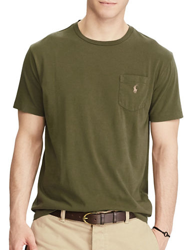 Polo Ralph Lauren Classic Fit Cotton T-Shirt-BROWN-Small