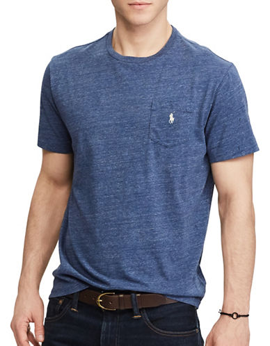 Polo Ralph Lauren Classic Fit Cotton T-Shirt-BLUE-Large