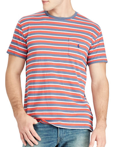 Polo Ralph Lauren Classic-Fit Striped Cotton T-Shirt-RED-Large