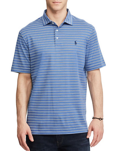 Polo Ralph Lauren Classic Fit Striped Soft-Touch Polo-LIGHT BLUE-Small