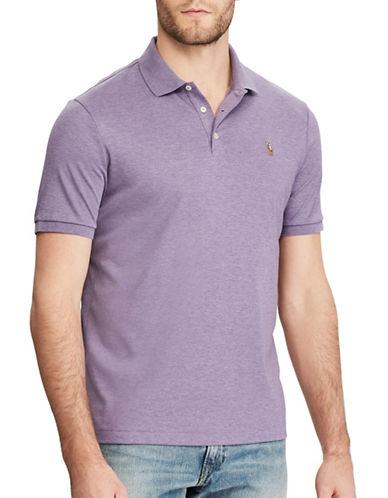 Polo Ralph Lauren Classic-Fit Soft-Touch Polo-PURPLE HEATHER-X-Large