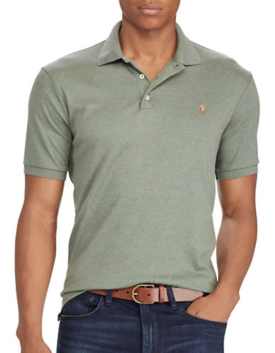 Polo Ralph Lauren Classic-Fit Heathered Polo-GREEN-Medium