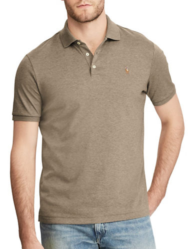 Polo Ralph Lauren Classic-Fit Soft-Touch Polo-BROWN-Large