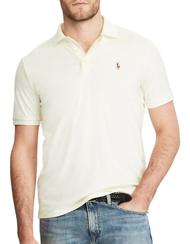 Polo Ralph Lauren Classic-Fit Soft-Touch Polo-WHITE-Small