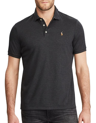 Polo Ralph Lauren Classic-Fit Soft-Touch Polo-DARK GREY-X-Large
