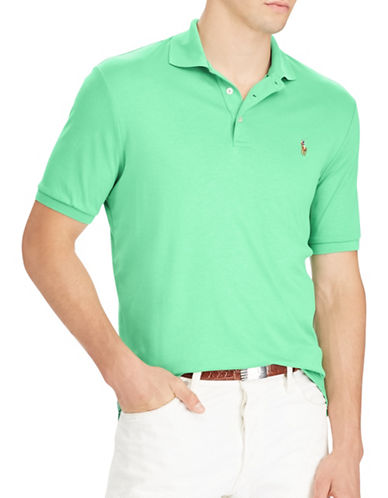 Polo Ralph Lauren Classic Fit Soft-Touch Cotton Polo-GREEN-Medium