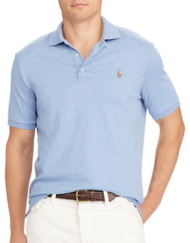 Polo Ralph Lauren Classic-Fit Soft-Touch Polo-BLUE-Large
