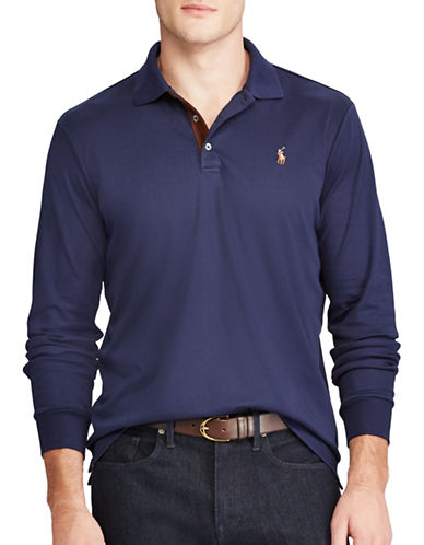 Polo Ralph Lauren Classic Fit Soft-Touch Cotton Polo-NAVY-Medium