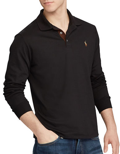 Polo Ralph Lauren Classic Fit Soft-Touch Cotton Polo-BLACK-Large 89402737_BLACK_Large
