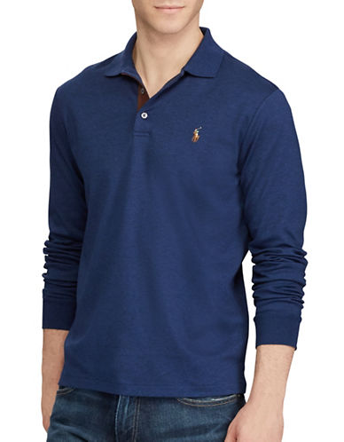 Polo Ralph Lauren Classic Fit Soft-Touch Cotton Polo-BLUE-Medium