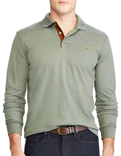 Polo Ralph Lauren Classic Fit Soft-Touch Cotton Polo-GREEN-X-Large