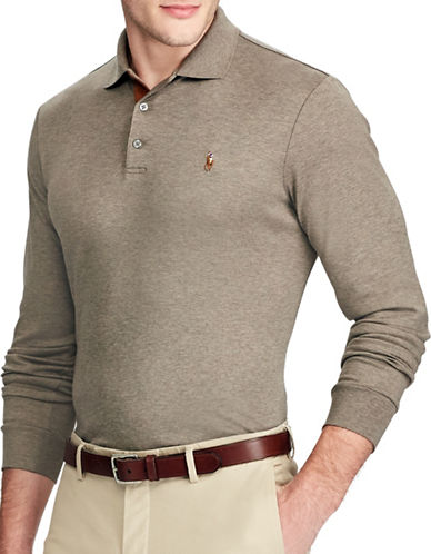 Polo Ralph Lauren Classic Fit Soft-Touch Cotton Polo-BROWN-Medium