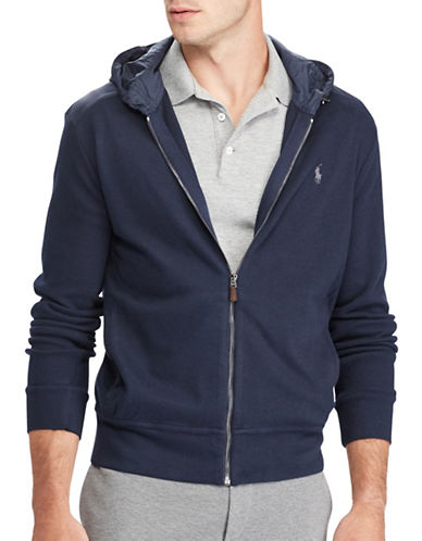 Polo Ralph Lauren Estate-Rib Hoodie-BLUE-Medium