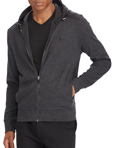 Polo Ralph Lauren Estate-Rib Hoodie-GREY-XX-Large