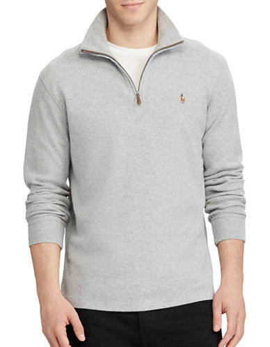 Polo Ralph Lauren Estate-Rib Cotton Pullover-LIGHT GREY-X-Large