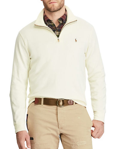 Polo Ralph Lauren Estate-Rib Cotton Pullover-WHITE-Large