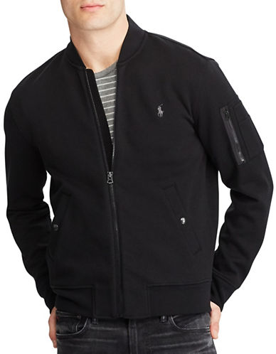 Polo Ralph Lauren Double Knit Bomber Jacket-POLO BLACK-X-Large