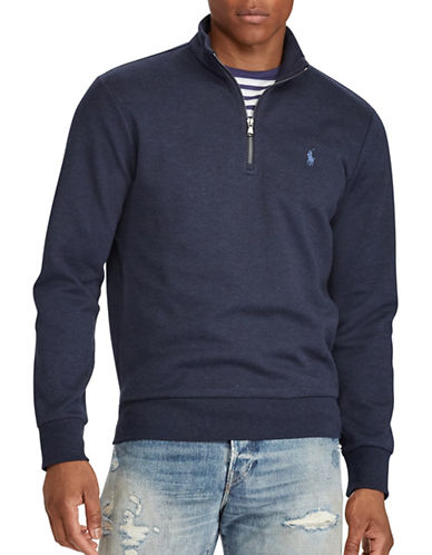 Polo Ralph Lauren Double-Knit Half-Zip Pullover-NAVY-X-Large