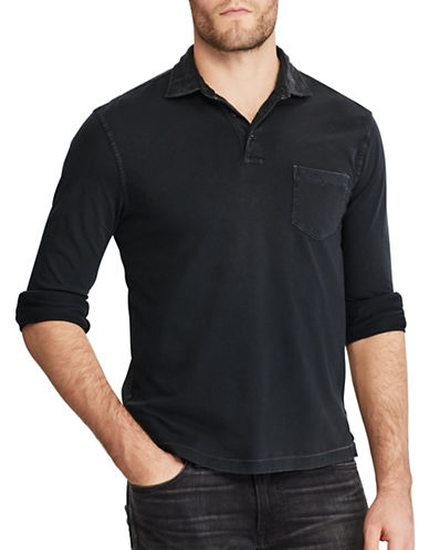 Polo Ralph Lauren Hampton Cotton Sport Shirt-POLO BLACK-XX-Large