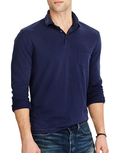 Polo Ralph Lauren Hampton Cotton Sport Shirt-FRENCH NAVY-Medium 89449914_FRENCH NAVY_Medium