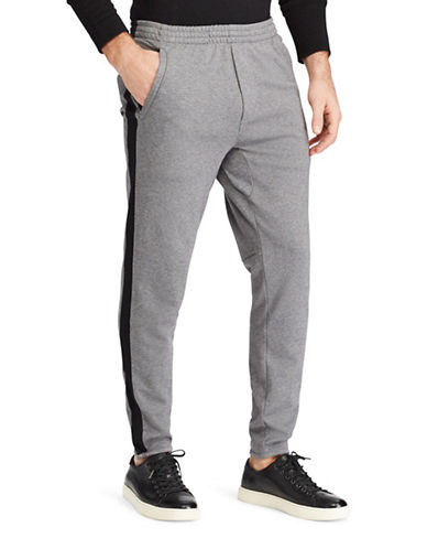 Polo Ralph Lauren Knit Cotton Track Pants-GREY-X-Large