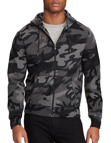 Polo Ralph Lauren Camo-Print Hoodie-GREY-Small 89455434_GREY_Small