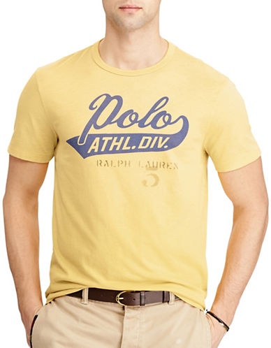Polo Ralph Lauren Custom Slim Fit Cotton T-Shirt-GOLD-Large