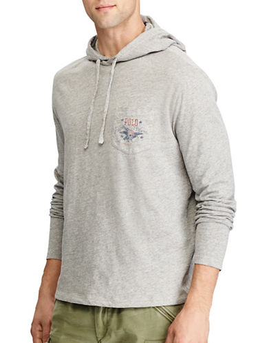 Polo Ralph Lauren Cotton Graphic Hoodie-GREY-Large