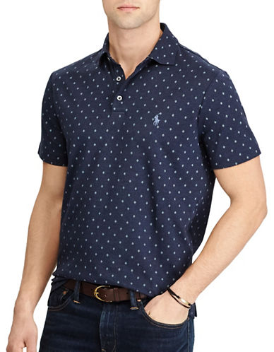 Polo Ralph Lauren Classic Fit Soft-Touch Diamond Polo-NAVY-Medium