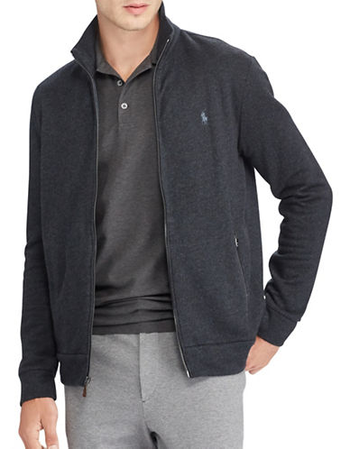 Polo Ralph Lauren Jacquard Fleece Jacket-NAVY-X-Large