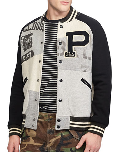 Polo Ralph Lauren Patchwork Jacket-GREY-XX-Large