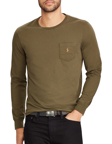 Polo Ralph Lauren Classic-Fit Pocket Cotton Tee-BROWN-Large