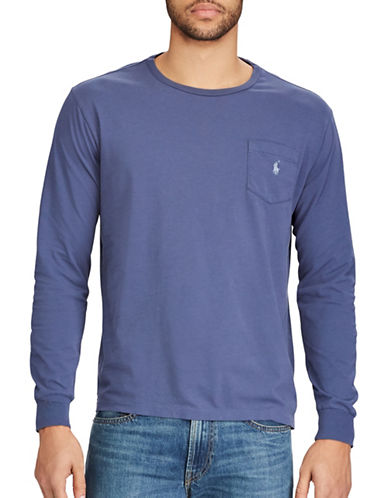 Polo Ralph Lauren Classic-Fit Pocket Cotton Tee-LIGHT NAVY-Medium