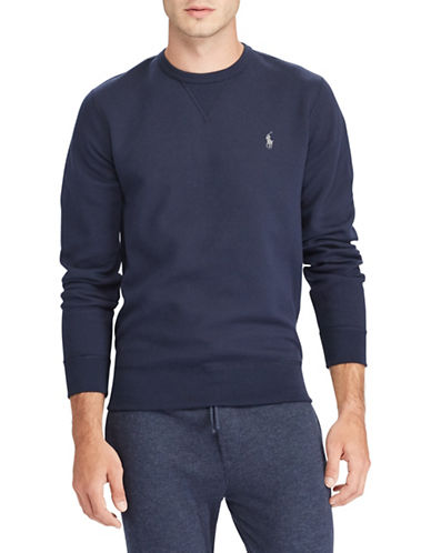 Polo Ralph Lauren Double-knit Sweatshirt-BLUE-Medium