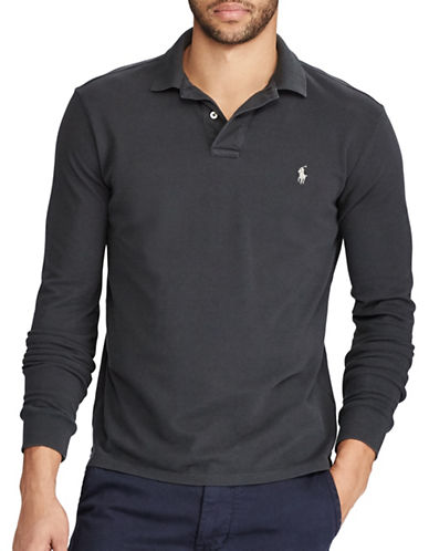 Polo Ralph Lauren Classic Weathered Mesh Cotton Polo-DARK CARBON-Small
