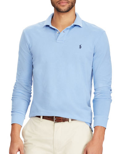 Polo Ralph Lauren Classic Weathered Mesh Cotton Polo-WINDSOR NAVY-Large