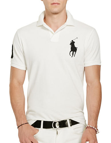 Polo Ralph Lauren Custom Slim-Fit Cotton Mesh Polo-WHITE-Medium