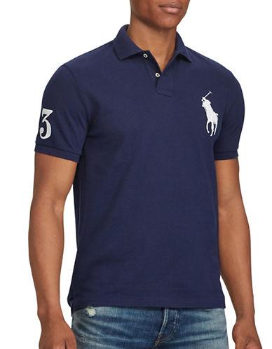 Polo Ralph Lauren Slim-Fit Cotton Mesh Polo-NAVY-Large