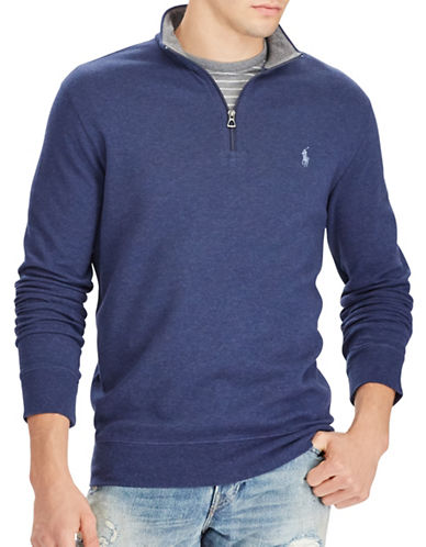Polo Ralph Lauren Luxury Jersey Half-Zip Pullover-AVIATOR NAVY-Small