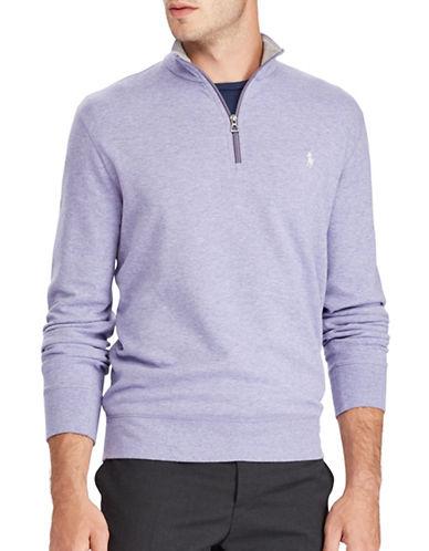 Polo Ralph Lauren Luxury Jersey Half-Zip Pullover-PURPLE-XX-Large