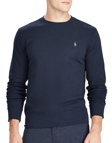 Polo Ralph Lauren Crew Neck Tee-BLUE-Small