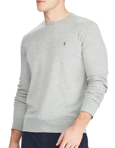 Polo Ralph Lauren Cotton-Blend Mock Neck Pullover-GREY-XX-Large