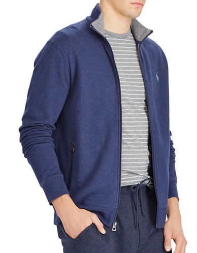 Polo Ralph Lauren Double Knit Track Jacket-BLUE-Medium 89451458_BLUE_Medium