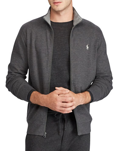 Polo Ralph Lauren Double Knit Track Jacket-GREY-Small 89451464_GREY_Small